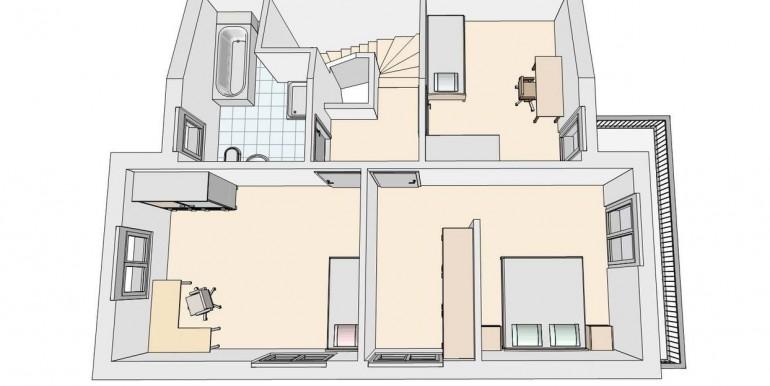 Seltisberg EFH Grundriss OG 3D-Ansicht
