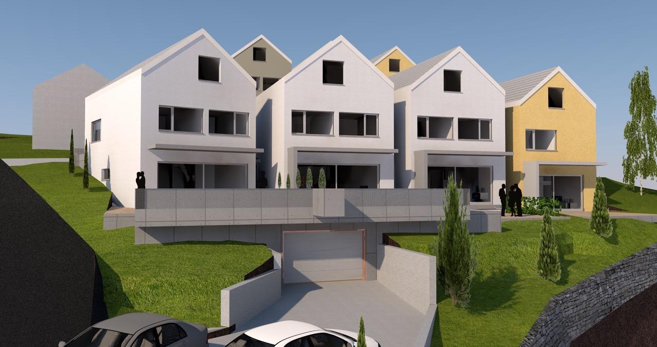 """""""VERKAUFT"""" / Überbauung mit 7 Einfamilienhaus in Othmarsingen"""